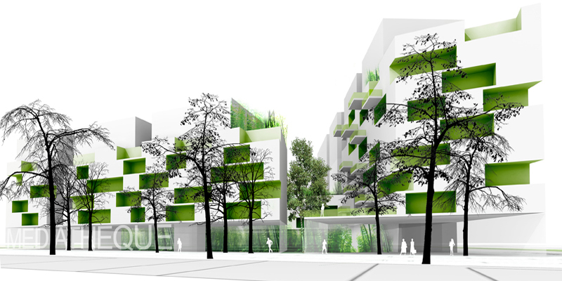 Dwellings Emmanuel Combarel Dominique Marrec Architectes - Residence-etudiante-medicalisee-by-ecdm