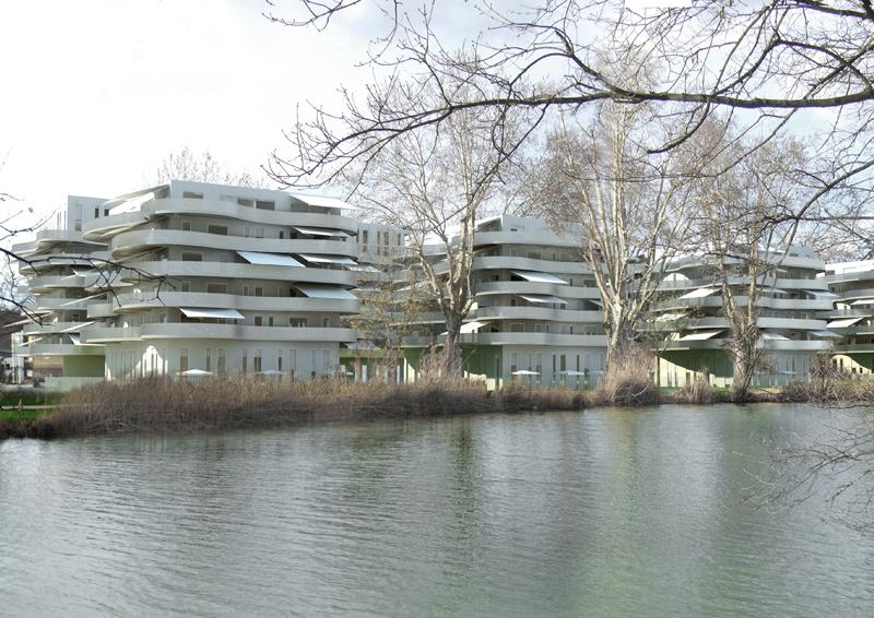 Ensemble immobilier mixte zac du nouveau bassin mulhouse - Bassin bois rectangulaire mulhouse ...
