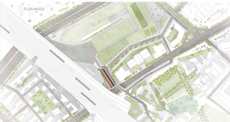 Immeuble de bureaux n5 zac clichy batignolles paris for Immeuble bureau plan