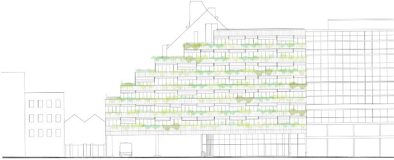 11 Corentin - Elévation bâtiment A